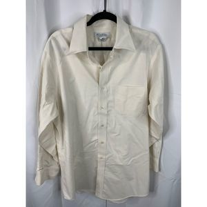 Brooks Brothers slim fit 16 1/2 cream button down
